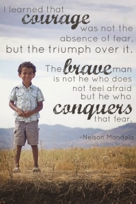 courage  brave conquers...