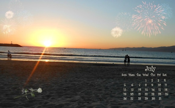 July 2015 calendar..