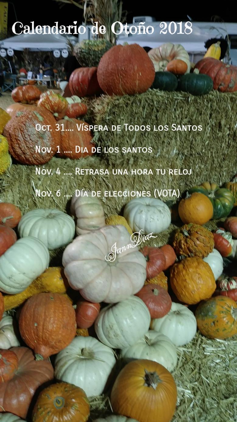 fall calendar...